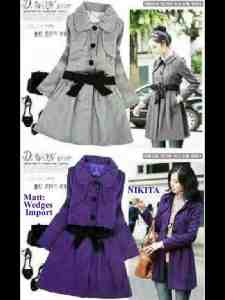 ip1209 nikita top coat +belt@68rb bahan wedges import fit to L