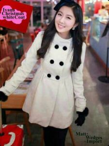 ip1213 Ivana coat @68rb wedges import fit L kecil