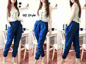 ip1218 valeria pants @58rb, bahan denim, fit L