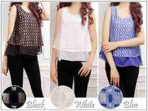 ip1242 blouse soju - 65rb, bahan bordir jala impor, fit to L