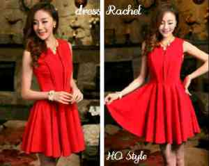 ip1244 dress rachel @55rb, fit to L, bahan twiscone