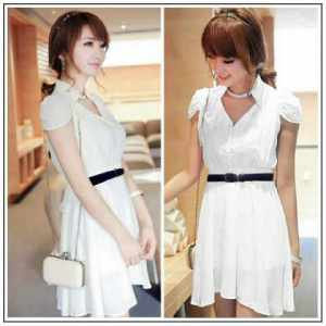 ip1261 dress Aini + belt @ 62rb, sz Ld98, P96cm, bahan ceruty + furing fit to L