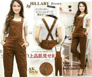 ip1262 hillary jumpsuit @95rb, sz pinggang L36-52, P85, no inner, bahan jeans strech tebal high Quality fit to L