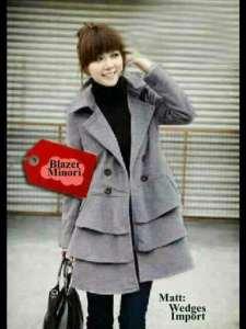 Ip1311 blazer minori grey - 68rb sz Ld96 Pj89 bahan wedges import