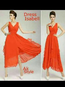 Ip1312 dress isabell oranges - 68rb sz Ld96 P125 bahab ceruty + furing