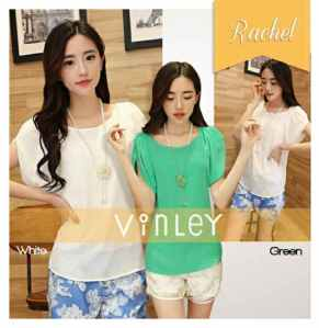 Ip1316 rachel blouse - 50rb sz L96 P68 bahan twiscone
