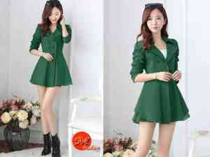 Ip258 dress green - 72rb fit to size L, bahan wedges