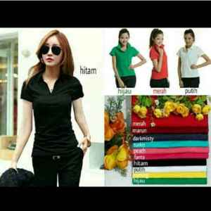 Ip306 krah zara basic tee - 40rb, fit L spandek cotton super