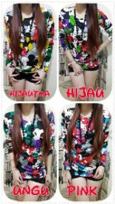 Ip322 mickey long sleeve - 25rb sz L50 P65 bahan spandek balon