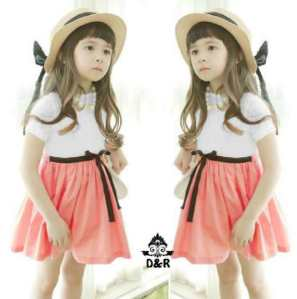 Ip328 dress yuri - 40rb fit 3-4thn, bahan spandek