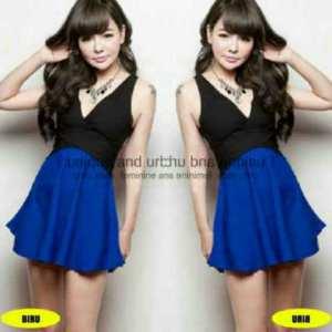 Ip386 dress liena - 30rb sz L42 P78 bahan spandek, fit L kecil
