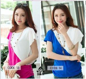 Ip481 blouse  kombie - 44rb fit L bahan spandek