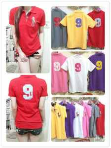 Ip488 polo eight kuda - 35rb sz L45 P65 bahan lacost, bordir gmbr kuda dan angka 9