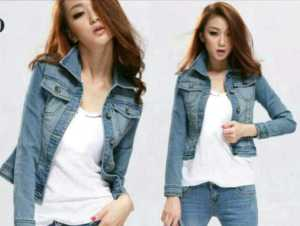 Ip636 Blazer jeans zygi ( no inner ) @82rb bahan jeans washed, fit L