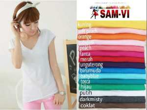 Ip767 Vneck @35rb fit L spandex cotton super