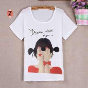Ip863 red girl @33rb sz L44 P62 bahan spandek sablon printing