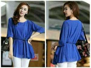 Ip900 benhur blouse - 55rb sz Ld98cm, pj60cm bahan twiscine free obi tali pinggang