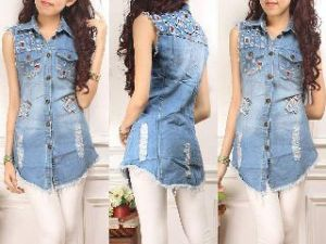 Ip904 dark tartan hem - 92rb fit  to L bahan jeans import