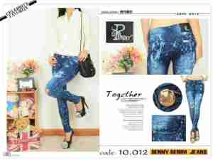 Ip932 punny jeans acid - 95rb sz 27-30 bahan jeans washed import