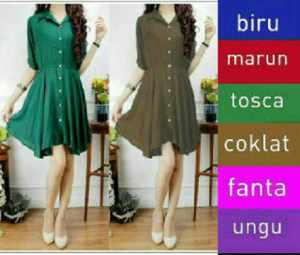 Ip964 dress stefi - 60rbb, fi L, bahan katun rayon