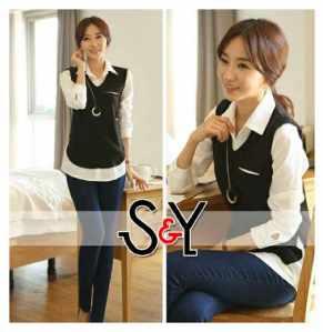 Ip976 lucy shirt - 57rb sz Ld96cmm, Pj76cm, rayon super mix spandek rayon, ada kantong, tangan pjg