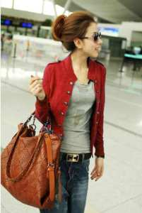 Ip978 blazer ritz red - 60rb sz L48 P60 bahan paragon