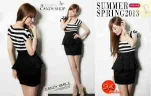 Ip984 dress loli - 42rb sz L46 P90 bahan spandek