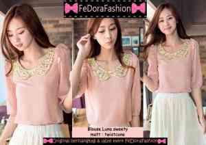 Ip9891 blouse luna sweety - 45rb sz L46 P66 bahan twiscone