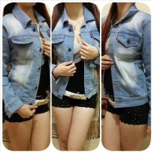 Ip9894 jaket jeans cew -120rb size M-L-XL bahan jeans import