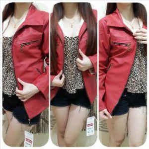 Ip9920 jaket kulit red lover - 120rb sz M-L-XL bahan semi kulit import