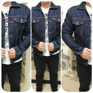 Ip9921 jaket levis jeans dark blue - 150rb sz M-L-XL-LL bahan jeans import