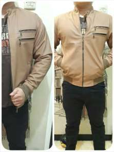 Ip9922 jaket kulit double pocket - 150rb sz M-L-XL-XXL bahan semi kulit import