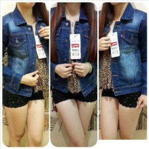 Ip9937 jaket jeans washed - 120rb fit L bahan jeans import