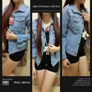 Ip9972 jaket levis jeans soft blue @120rb sz L44 P54 fit to XL bahan jeans stretch bisa melar
