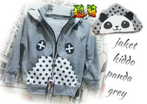 Jaket kiddo panda grey - 50rb sz L40 P45 bahan fleece