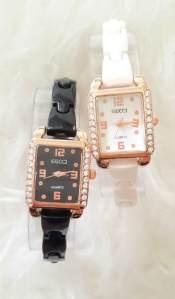 Jam tangan gucci ladies keramik - 80rb kw 1, tali bahan keramik mika, free box dan batre cadangan