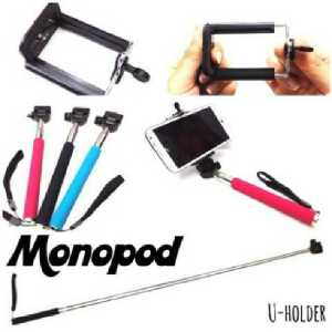 Tongsis + holder u medium @45rb, pengambilan 6pc @40rb, muat sampe note 3, ready stock hitam, ungu, pink, skyblue, hijau dan merah
